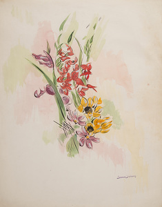Untitled (Red and Yellow Flowers)