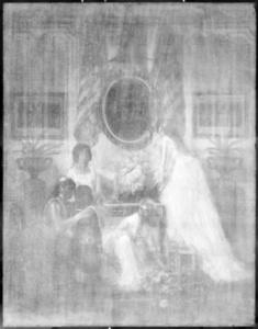 X-ray image taken in 2015 of Charles Baugniet, Washington's Birthday