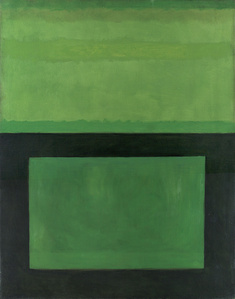 Cool Series Untitled Black Over Green