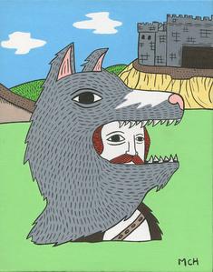 Portrait Of Sir Edmond And Castle Grey Wolf