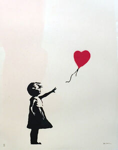 Girl with Balloon signed
