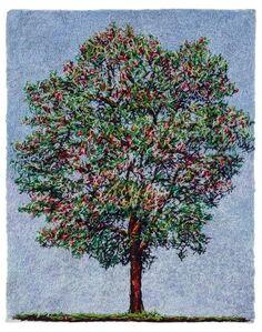 Árvore com frutos vermelhos