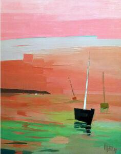 Marine rose et verte