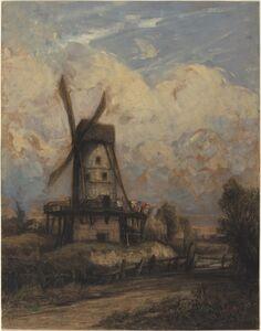 A Windmill against a Cloudy Sky