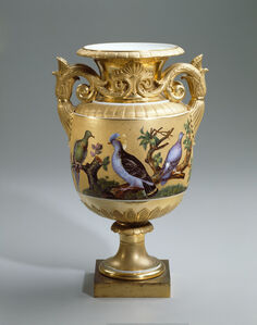 Vase with Pigeons