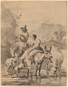 Shepherdess on a Donkey