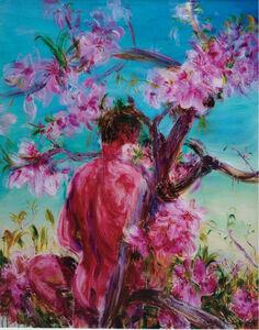 Man & Peach Tree