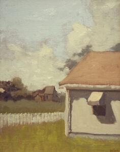 Cottage with a White Fence