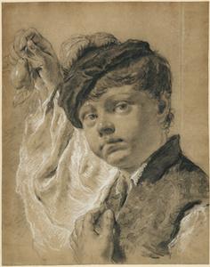 A Boy Holding a Pear (Giacomo Piazzetta?)