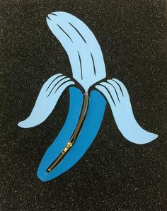 Banana Unzipped (Blue)