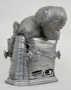 Untitled (silver puppy in toaster)