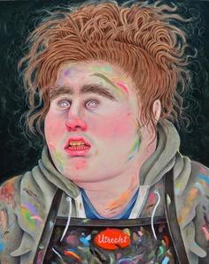 Self-Portrait Post MFA Wearing a Smock of a Former Employer II