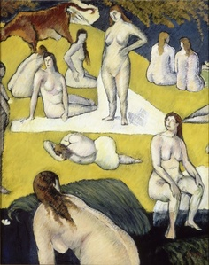 Bathers with a Red Cow