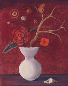 Still Life with Red Sky and Geranium