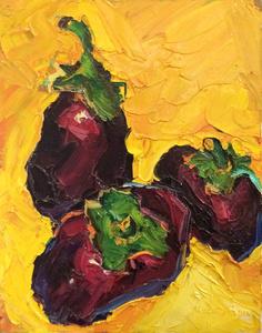 Eggplants on Gold