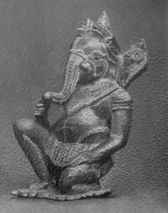 Kneeling Ganesh