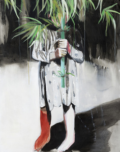 Girl with a bamboo