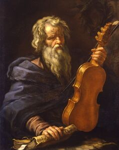 Portrait of Homer with a violin