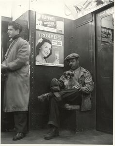 Johnny Lunchbucket and Friend on the A Train, New York City