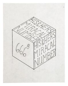 untitled, double side (his and hers miracal number cube)