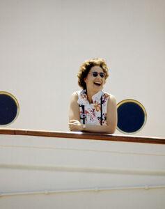 The Queen on board Britannia, Indian Ocean
