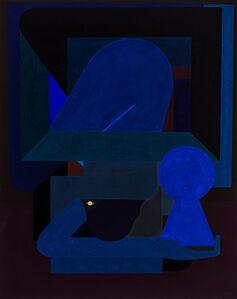Figure With Blue Keyhole