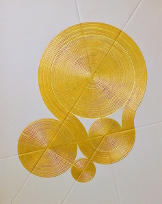 Garden of Rivers and Circles (Gold)