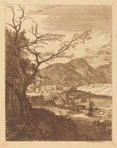 Landscape with Tree in Left Foreground