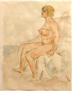Sonnebadender weiblicher Akt