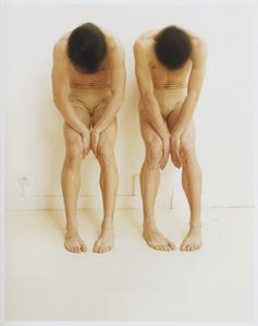 Etude de deux danseurs, mouvement de tete, 2