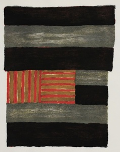 Narcissus (with all nine (9) of Sean Scully's original wood blocks used to create this limited edition print)- Cleveland Museum De-Accession