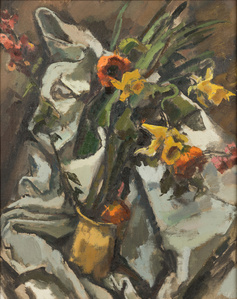 Still Life with Daffodils and Poppies