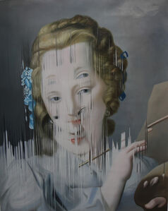 Ejercicio de distorsión sobre Ritratto di Giovane Pittrice de Rosalba Carrera