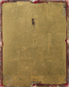 Oro su rosso di cadmio chiaro