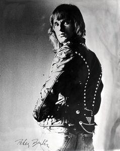 Self Portrait in Black Leather Jacket