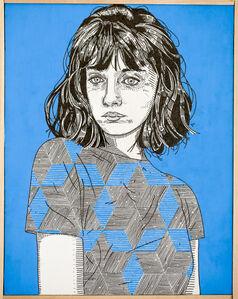 she (blue)