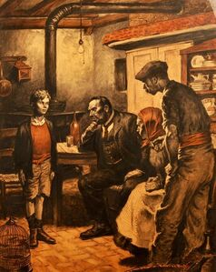 Three Men Questioning Boy