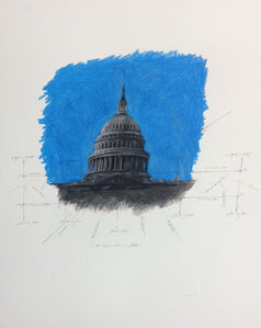 United States Capitol Dome in Space