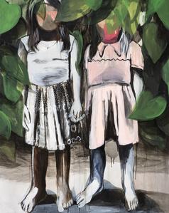 2 Girl with a bush