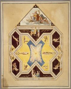 [Unexecuted ceiling design for the Stanza Egizia]