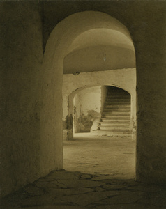 Convent of Tepotzotlan, Mexico (Stairs through Arches)