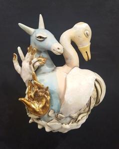 Pegasus With Swan
