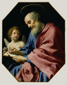 St. Matthew Writing His Gospel