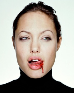 Angelina with Blood