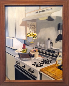 Granny's Kitchen (in a David Hockney frame)