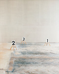 Some Marks, a Square, and a Figure (triptych part 1/3)