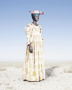 Herero Woman in Yellow Dress