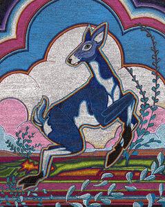Untitled (Blue Deer)