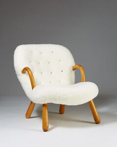 """""""Clam"""" easy chair"""