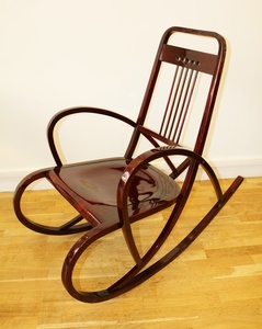 Viennese Secession Rocking Chair, by Thonet